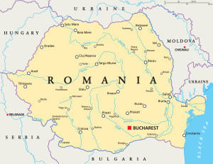 Romania, Bulgaria & Moldova Map